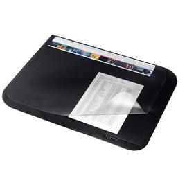 Schreibunterlage Soft-Touch mit transparenter Abdeckung 500x3x650mm schwarz PVC Leitz 5312-00-95 Produktbild