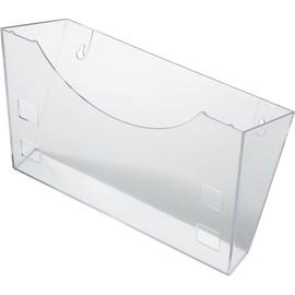 Prospektfach-Wandhalter für A4+A5+A6 240x105x165mm glasklar Helit H6103002 Produktbild