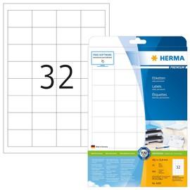 Etiketten Inkjet+Laser+Kopier 48,3x33,8mm auf A4 Bögen weiß Herma 4200 (PACK=800 STÜCK) Produktbild