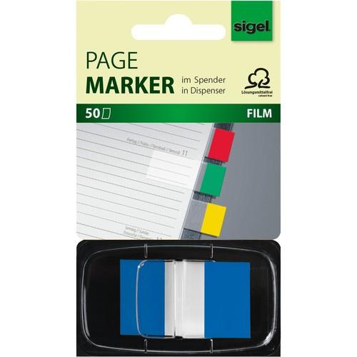 """50 Blatt gelb sigel Haftmarker /""""Z-Marker/"""" Film Color-Tip"""