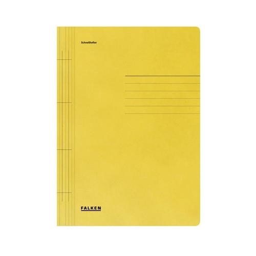 Schnellhefter A4 gelb Karton Falken 80000425 Produktbild Front View L