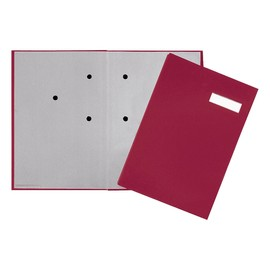 Unterschriftsmappe 20Fächer A4 rot 24192-11 Produktbild