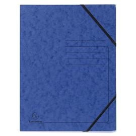 Eckspanner A4 GZ blau Karton Exacompta 555412E Produktbild