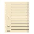 Trennblätter mit perforierten Taben A4 240x300mm gelb teilfarbig Karton 44063-05 (PACK=100 STÜCK) Produktbild Additional View 1 S