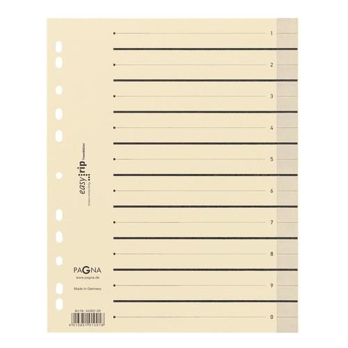 Trennblätter mit perforierten Taben A4 240x300mm gelb teilfarbig Karton 44063-05 (PACK=100 STÜCK) Produktbild Additional View 1 L