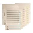 Trennblätter mit perforierten Taben A4 240x300mm rot teilfarbig Karton 44063-01 (PACK=100 STÜCK) Produktbild