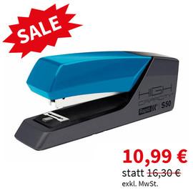 Heftgerät SUPREME S50 FlatClinch bis 50Blatt für 24/6+24/8+26/6+26/8 blau/anthrazit Rapid 24148402 Produktbild
