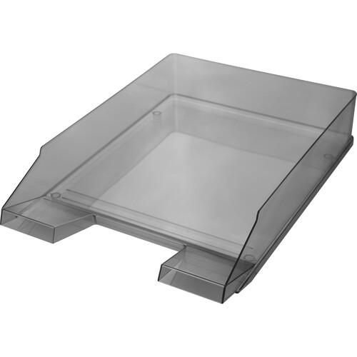 Briefkorb Economy für A4 245x347x67mm grau transparent Kunststoff Helit H2361508 Produktbild Front View L