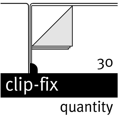 Bewerbungsmappe professional 2-teilig mit clip-fix-system 220x315mm für 30Blatt dunkelblau Karton Elba 100421009 Produktbild Additional View 4 L