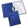 Bewerbungsmappe professional 2-teilig mit clip-fix-system 220x315mm für 30Blatt dunkelblau Karton Elba 100421009 Produktbild Additional View 1 S