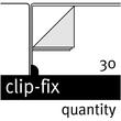Bewerbungsmappe 2-teilig mit Klemme clip-fix system 220x315mm für 30Blatt anthrazit PP Elba 100421025 Produktbild Additional View 6 S
