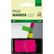 Haftmarker Z-Marker Film 25x45mm neonrot transparent Sigel HN480 (PACK=50 STÜCK) Produktbild