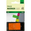 Haftmarker Z-Marker Film 25x45mm neonorange transparent Sigel HN483 (PACK=50 STÜCK) Produktbild