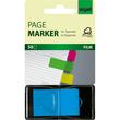 Haftmarker Z-Marker Film 25x45mm neonblau transparent Sigel HN484 (PACK=50 STÜCK) Produktbild