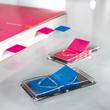 Haftmarker Z-Marker Film 25x45mm neonblau transparent Sigel HN484 (PACK=50 STÜCK) Produktbild Additional View 4 S