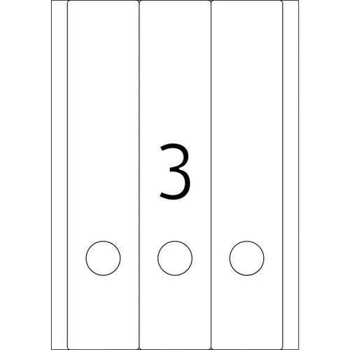 Rückenschilder zum Bedrucken 61x297mm lang breit auf A4 Bögen weiß selbstklebend Herma 5135 (PACK=75 STÜCK) Produktbild Additional View 2 L