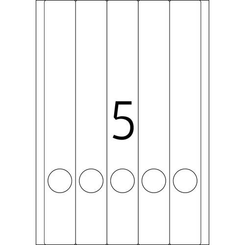 Rückenschilder zum Bedrucken 38x297mm lang schmal auf A4 Bögen weiß selbstklebend Herma 5130 (PACK=125 STÜCK) Produktbild Additional View 2 L