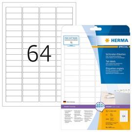 Etiketten Inkjet+Laser+Kopier 45,7x16,9mm auf A4 Bögen Movables weiß wiederablösbar Herma 4201 (PACK=1600 STÜCK) Produktbild