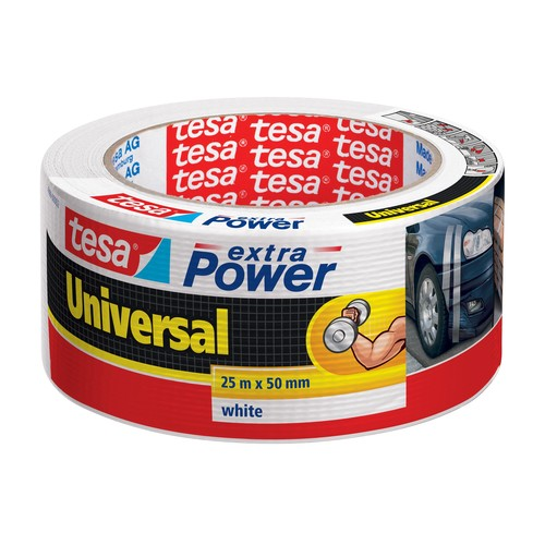 Gewebeband extra Power Universal 50mm x 25m weiß Tesa 56388-00002-05 (RLL=25 METER) Produktbild
