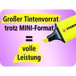 Textmarker Boss 07 Mini 2-5mm Keilspitze orange Stabilo 07/54 Produktbild Back View S