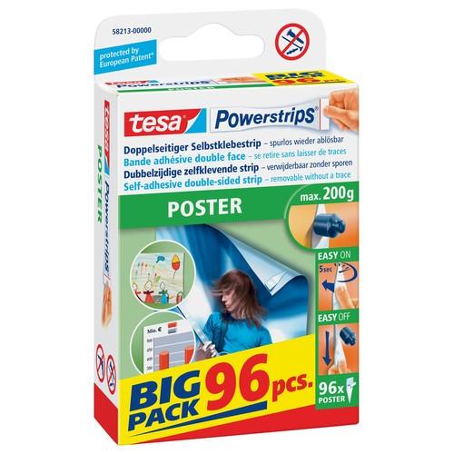 Posterstrips Big Pack bis 200g Haftkraft beidseitig klebend Tesa 58213-00000-03 (PACK=96 STÜCK) Produktbild Front View L