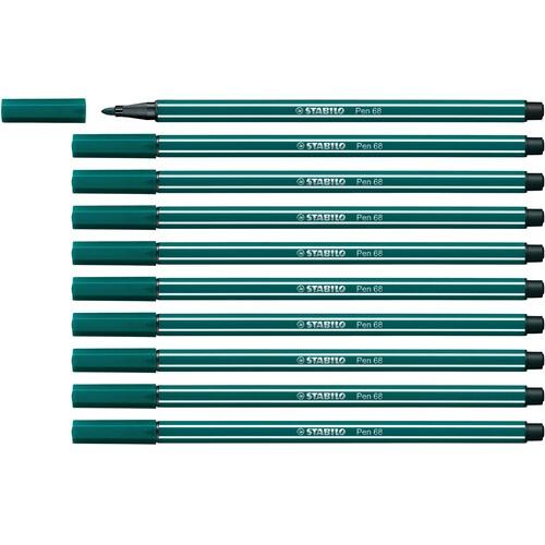 Fasermaler Pen 68 1mm Rundspitze blaugrün Stabilo 68/53 Produktbild Additional View 3 L