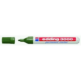 Permanentmarker 3000 1,5-3mm Rundspitze olivgrün Edding 4-3000015 Produktbild