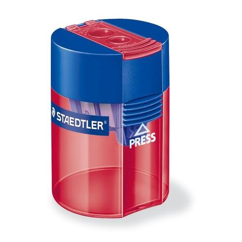 Doppelspitzer mit Behälter oval hoch farbig sortiert Staedtler 512006 Produktbild