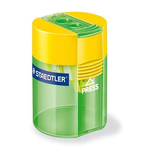 Doppelspitzer mit Behälter oval hoch farbig sortiert Staedtler 512006 Produktbild Additional View 1 L