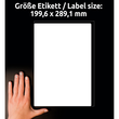Versand-Etiketten Laser blickdicht 199,6x289,1mm auf A4 Bögen weiß Papier Zweckform L7167-100 (PACK=100 STÜCK) Produktbild Additional View 6 S