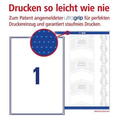 Versand-Etiketten Laser blickdicht 199,6x289,1mm auf A4 Bögen weiß Papier Zweckform L7167-100 (PACK=100 STÜCK) Produktbild Additional View 3 L