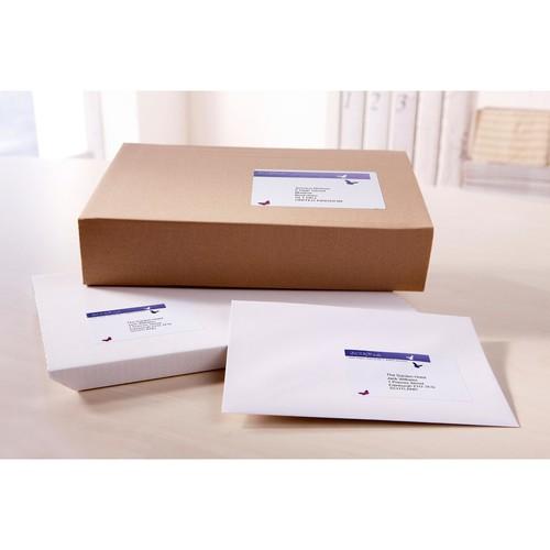 Versand-Etiketten Laser blickdicht 199,6x289,1mm auf A4 Bögen weiß Papier Zweckform L7167-100 (PACK=100 STÜCK) Produktbild Additional View 4 L