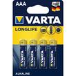 Batterien Longlife Extra Micro AAA 1,5V 1100mAh Varta 4103 (PACK=4 STÜCK) Produktbild