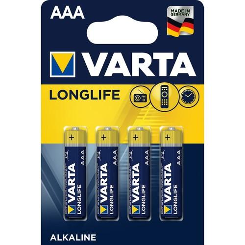 Batterien Longlife Extra Micro AAA 1,5V 1100mAh Varta 4103 (PACK=4 STÜCK) Produktbild Front View L