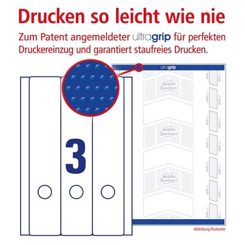 Rückenschilder zum Bedrucken 59x297mm lang breit auf A4 Bögen weiß selbstklebend Zweckform L6059-25 (PACK=90 STÜCK) Produktbild Additional View 3 L