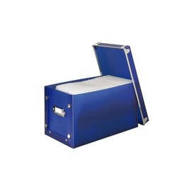 Media-Box 140 für 140CDs/DVDs/Blue-Rays transparent-blau Hama 00078378 Produktbild