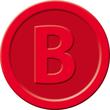 """Wertmarken """"Bier"""" Druck mit Motiv+B ø 25mm rot Kunststoff Sigel WM003 (PACK=100 STÜCK) Produktbild Additional View 1 S"""