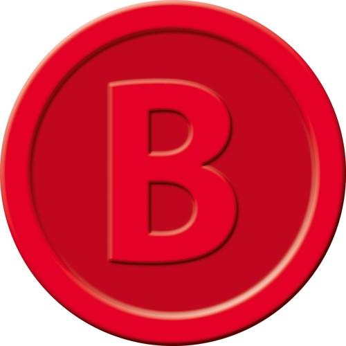 """Wertmarken """"Bier"""" Druck mit Motiv+B ø 25mm rot Kunststoff Sigel WM003 (PACK=100 STÜCK) Produktbild Additional View 1 L"""