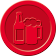 """Wertmarken """"Bier"""" Druck mit Motiv+B ø 25mm rot Kunststoff Sigel WM003 (PACK=100 STÜCK) Produktbild Additional View 2 S"""