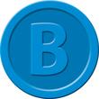 """Wertmarken """"Bier"""" Druck mit Motiv+B ø 25mm blau Kunststoff Sigel WM005 (PACK=100 STÜCK) Produktbild Additional View 1 S"""