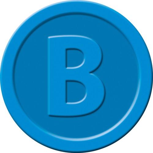 """Wertmarken """"Bier"""" Druck mit Motiv+B ø 25mm blau Kunststoff Sigel WM005 (PACK=100 STÜCK) Produktbild Additional View 1 L"""