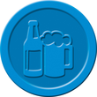 """Wertmarken """"Bier"""" Druck mit Motiv+B ø 25mm blau Kunststoff Sigel WM005 (PACK=100 STÜCK) Produktbild Additional View 2 S"""