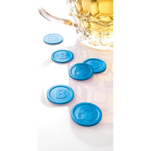 """Wertmarken """"Bier"""" Druck mit Motiv+B ø 25mm blau Kunststoff Sigel WM005 (PACK=100 STÜCK) Produktbild Additional View 3 L"""