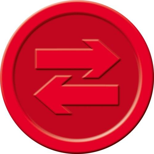 """Wertmarken """"Pfand"""" Druck mit Motiv+P ø 25mm rot Kunststoff Sigel WM008 (PACK=100 STÜCK) Produktbild Additional View 2 L"""