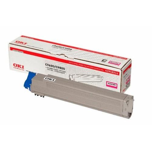 Toner für C9600/C9650/C9800/C9850 15000Seiten magenta OKI 42918914 Produktbild Front View L