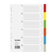Register Blanko A4 230x297mm 6-teilig mehrfarbig Karton Milan 794 Produktbild Additional View 1 S