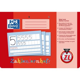 Zahlenlernheft Oxford A4 quer Lineatur ZL 16Blatt 90g Optik Paper 100050304 Produktbild