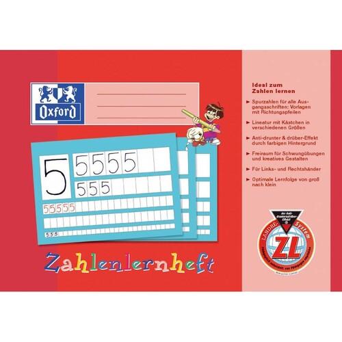 Zahlenlernheft Oxford A4 quer Lineatur ZL 16Blatt 90g Optik Paper 100050304 Produktbild Additional View 1 L