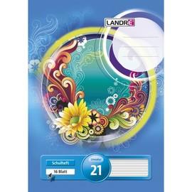 Heft starker Deckel A4 Lineatur 21 liniert 16Blatt 80g holzfrei weiß Landré 100050035 Produktbild