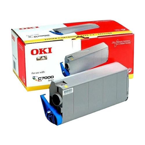 Toner für C7100/C7300/C7350/C7500/C7550 10000Seiten yellow OKI 41963005 Produktbild Front View L